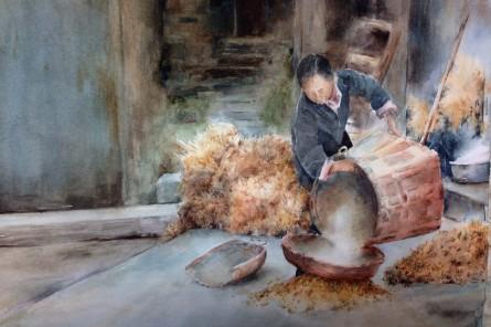 Joanne Hall_Chinese street scene 4x6