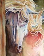 Diane Seigfried_White horse