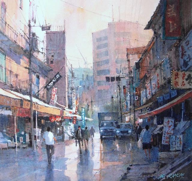 Ian Ramsay_Tokyo Market Street After the Rain_WFWS 2012