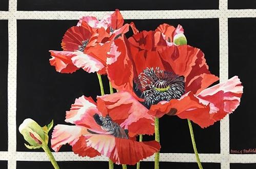 Nancy Maxfield Lund_Window Pane Poppies