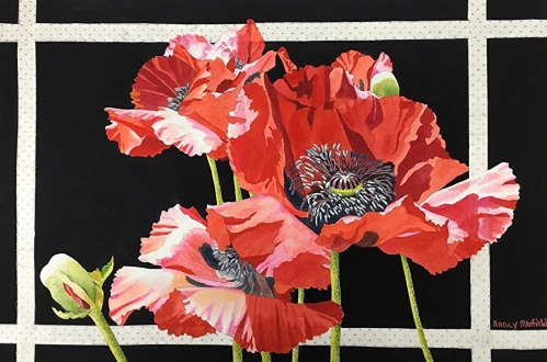 Nancy Maxfield Lund_Window Pane Poppies