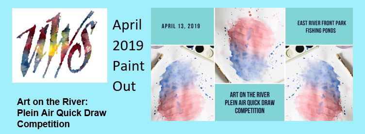 April 2019 plein air quick draw and paint out