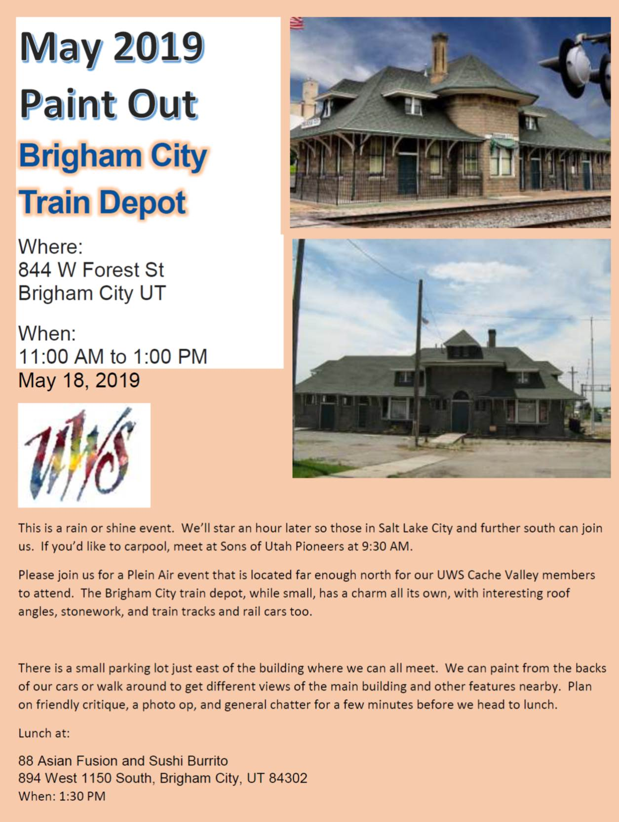 uws paint out_may 2019 brigham city train depot_pic