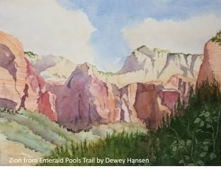 Dewey Hansen_Zion from Emerald Pools Trail