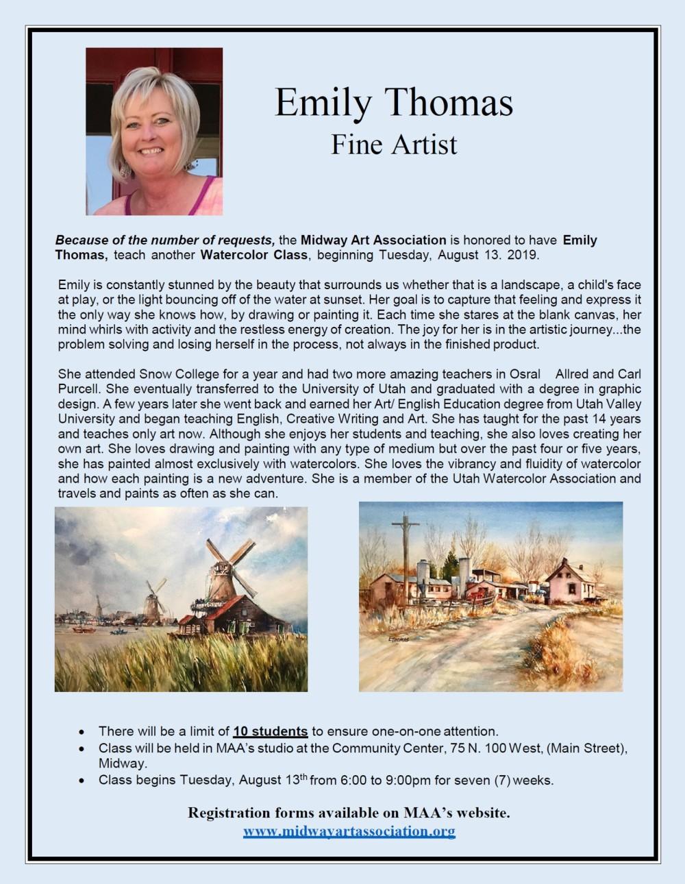 Emily Thomas Flyer 2019
