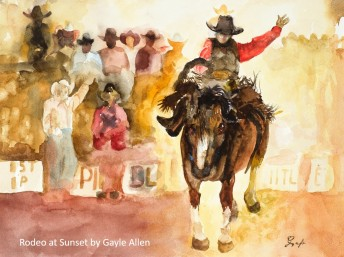 Gayle Allen_Rodeo at Sunset