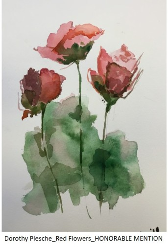 Dorothy Plesche_Red Flowers_HONORABLE MENTION