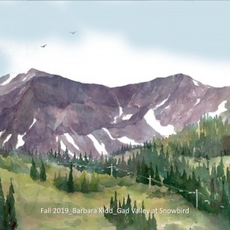 Fall 2019_Barbara Kidd_Gad Valley at Snowbird_labeled