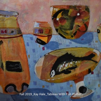 Fall 2019_Kay Hale_Tableau With Fish Platter_labeled