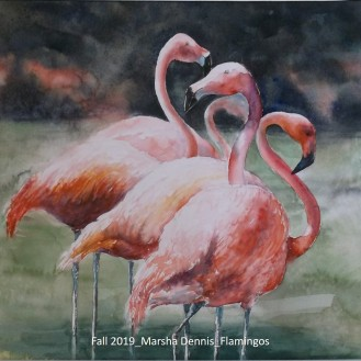 Fall 2019_Marsha Dennis_Flamingos_labeled